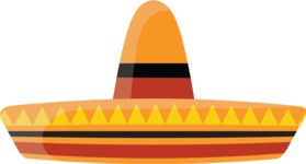 Mexico Vectors - Mega Bundle - Mexican Sombrero Hat 2