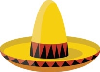 Mexico Vectors - Mega Bundle - Mexican Sombrero Hat 3