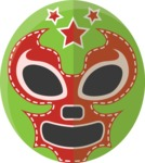 Mexico Vectors - Mega Bundle - Mexican Wrestler Mask 3