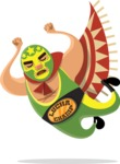Mexico Vectors - Mega Bundle - Mexican Wrestler Jump