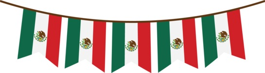 Mexico Vectors - Mega Bundle - Mexican Flag String