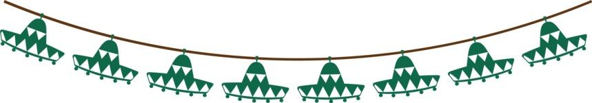 Mexico: Hola, Amigo - Sombrero Banner Flags