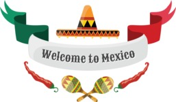 Mexico Vectors - Mega Bundle - Welcome to Mexico Ribbon