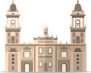 Mexico Vectors - Mega Bundle - Mexico City Metropolitan Cathedral