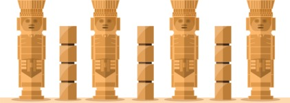 Mexico Vectors - Mega Bundle - Mexico Mayan Columns