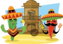 Mexico Illustrations Bundle - Cartoon Mexico Illustration 4