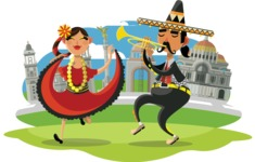 Mexico Illustrations Bundle - Cartoon Mexico Illustration 6