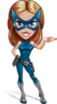 Pretty Superhero Woman with Mask Cartoon Vector Character AKA Angelina Justice - Show 1