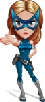 Pretty Superhero Woman with Mask Cartoon Vector Character AKA Angelina Justice - Show 5
