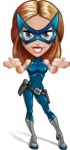 Pretty Superhero Woman with Mask Cartoon Vector Character AKA Angelina Justice - Show 6