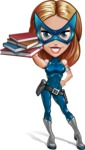 Pretty Superhero Woman with Mask Cartoon Vector Character AKA Angelina Justice - Books 2