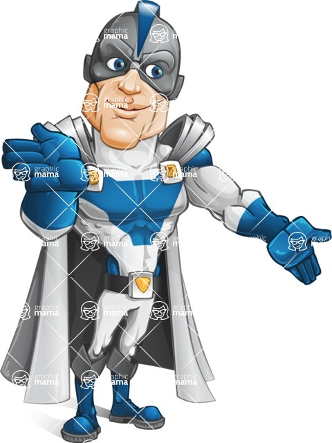 Retired Superhero Cartoon Vector Character AKA Space Centurion - Show 4