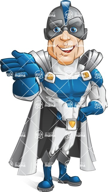 Retired Superhero Cartoon Vector Character AKA Space Centurion - Show 5