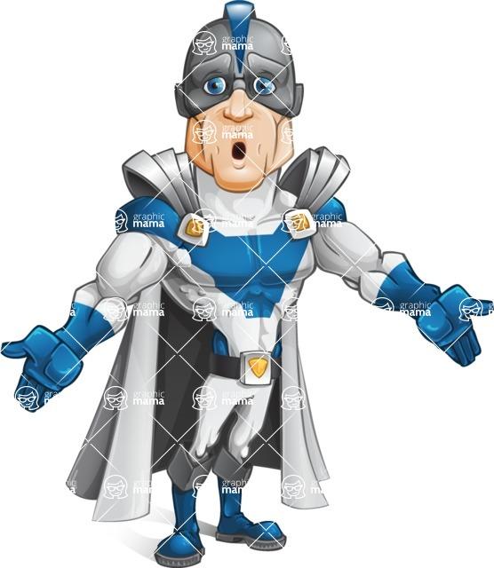 Retired Superhero Cartoon Vector Character AKA Space Centurion - Lost1
