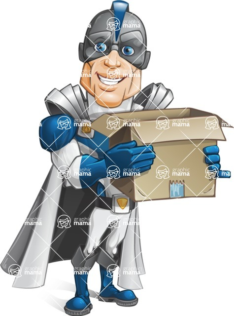 Retired Superhero Cartoon Vector Character AKA Space Centurion - Delivery 2