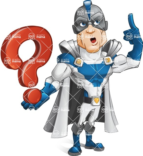 Retired Superhero Cartoon Vector Character AKA Space Centurion - Question