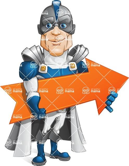 Retired Superhero Cartoon Vector Character AKA Space Centurion - Arrow 2