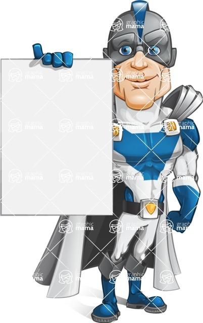 Retired Superhero Cartoon Vector Character AKA Space Centurion - Presentation 2