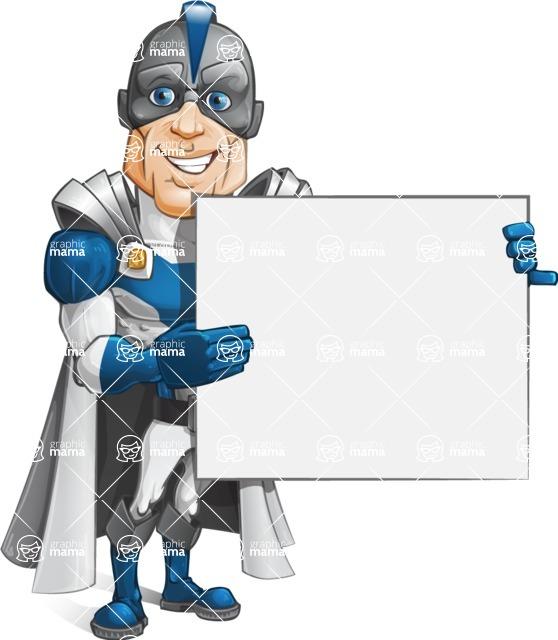 Retired Superhero Cartoon Vector Character AKA Space Centurion - Presentation 3