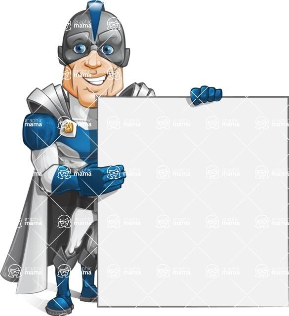 Retired Superhero Cartoon Vector Character AKA Space Centurion - Presentation 4