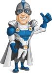 Retired Superhero Cartoon Vector Character AKA Space Centurion - Normal