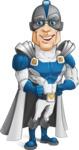 Retired Superhero Cartoon Vector Character AKA Space Centurion - Confident1