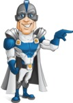 Retired Superhero Cartoon Vector Character AKA Space Centurion - Point1