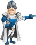 Retired Superhero Cartoon Vector Character AKA Space Centurion - Point 2