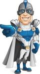 Retired Superhero Cartoon Vector Character AKA Space Centurion - Point 3