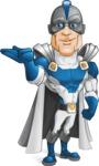 Retired Superhero Cartoon Vector Character AKA Space Centurion - Show 1