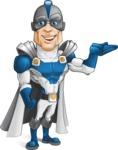 Retired Superhero Cartoon Vector Character AKA Space Centurion - Show 2