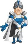 Retired Superhero Cartoon Vector Character AKA Space Centurion - Show 3