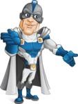 Retired Superhero Cartoon Vector Character AKA Space Centurion - Show 4