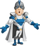 Retired Superhero Cartoon Vector Character AKA Space Centurion - Lost1