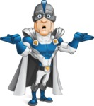Retired Superhero Cartoon Vector Character AKA Space Centurion - Lost 2