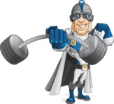 Retired Superhero Cartoon Vector Character AKA Space Centurion - Fitness