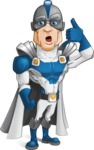 Retired Superhero Cartoon Vector Character AKA Space Centurion - Support