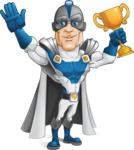 Retired Superhero Cartoon Vector Character AKA Space Centurion - Winner