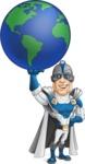 Retired Superhero Cartoon Vector Character AKA Space Centurion - Earth