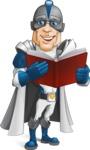 Retired Superhero Cartoon Vector Character AKA Space Centurion - Book