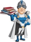 Retired Superhero Cartoon Vector Character AKA Space Centurion - Books 2