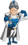 Retired Superhero Cartoon Vector Character AKA Space Centurion - Super Strong