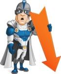 Retired Superhero Cartoon Vector Character AKA Space Centurion - Arrow 3
