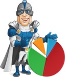 Retired Superhero Cartoon Vector Character AKA Space Centurion - Chart