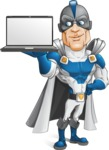 Retired Superhero Cartoon Vector Character AKA Space Centurion - Notebook