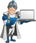Retired Superhero Cartoon Vector Character AKA Space Centurion - Notebook 2