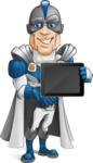 Retired Superhero Cartoon Vector Character AKA Space Centurion - Tablet
