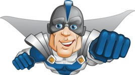 Retired Superhero Cartoon Vector Character AKA Space Centurion - Fly 1