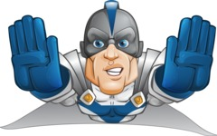 Retired Superhero Cartoon Vector Character AKA Space Centurion - Fly 3