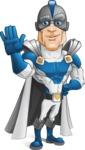 Retired Superhero Cartoon Vector Character AKA Space Centurion - Hello